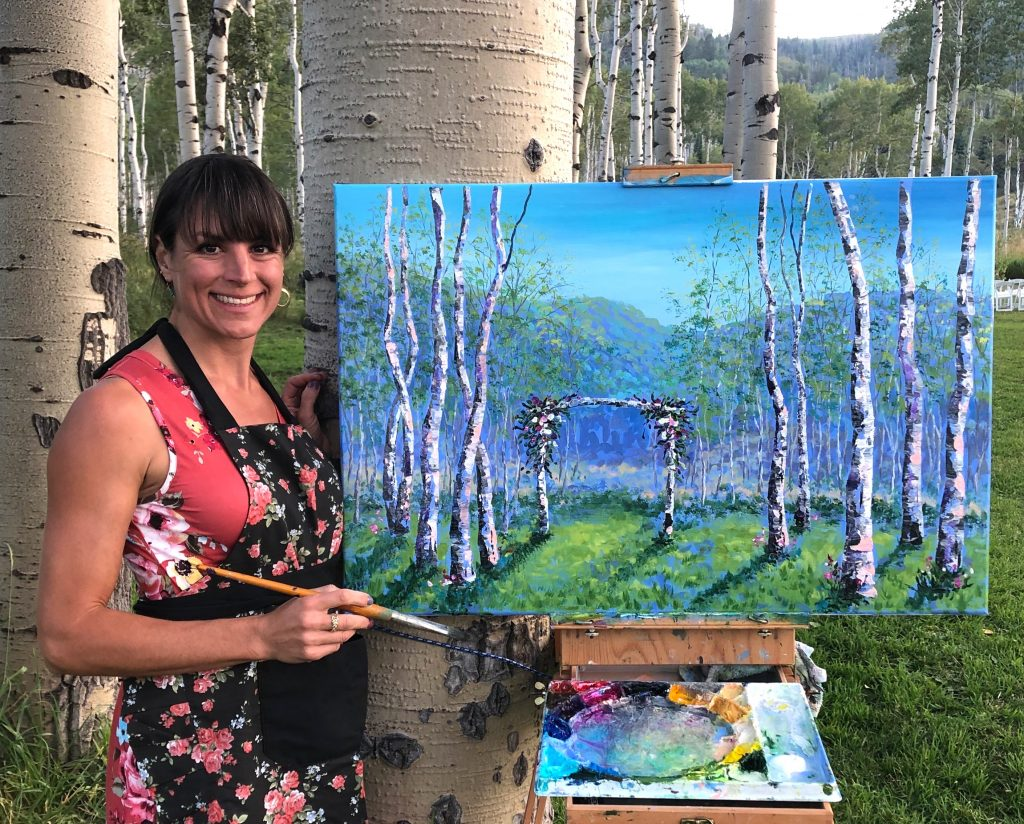 Colorado Live Wedding Painter